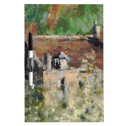 Claude Monet - árboles de ciruelo florecientes Pizarras Blancas De Calidad