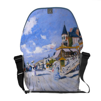 Claude Monet: At the Beach of Trouville Courier Bag