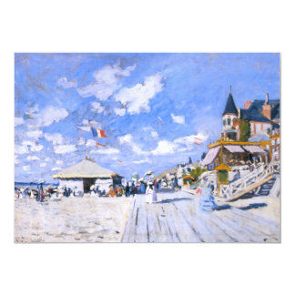 Claude Monet: At the Beach of Trouville 5x7 Paper Invitation Card