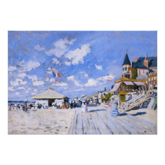 Claude Monet: At the Beach of Trouville Poster