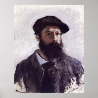Claude Monet - autorretrato en boina Póster