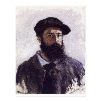 Claude Monet - autorretrato en la boina 1886 Tarjetas Postales