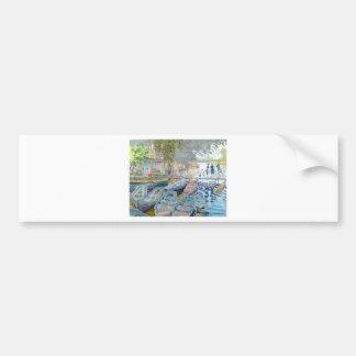 Claude Monet - bañistas en el La Grenouillère Pegatina Para Auto