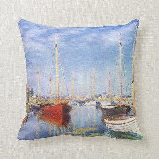 Claude Monet: Barcos de placer en Argenteuil Cojines