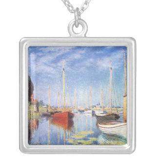 Claude Monet: Barcos de placer en Argenteuil Colgante Cuadrado