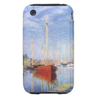 Claude Monet: Barcos de placer en Argenteuil Tough iPhone 3 Fundas