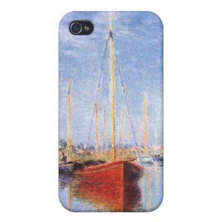 Claude Monet: Barcos de placer en Argenteuil iPhone 4 Carcasas