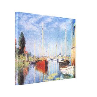 Claude Monet: Barcos de placer en Argenteuil Impresiones En Lona