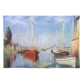 Claude Monet: Barcos de placer en Argenteuil Manteles