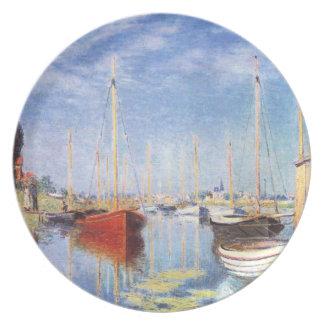 Claude Monet: Barcos de placer en Argenteuil Plato De Cena