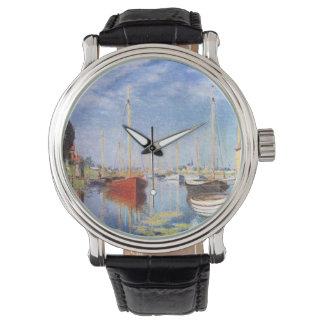 Claude Monet: Barcos de placer en Argenteuil Relojes De Pulsera