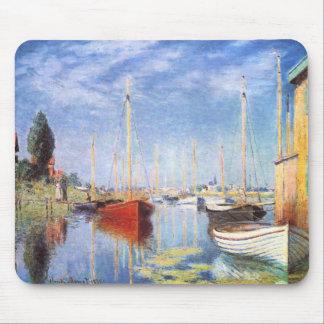 Claude Monet: Barcos de placer en Argenteuil Tapete De Ratones