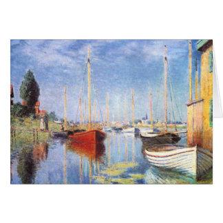 Claude Monet: Barcos de placer en Argenteuil Tarjeta De Felicitación
