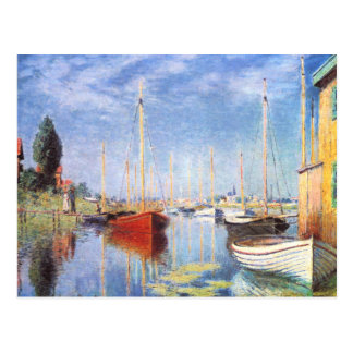 Claude Monet: Barcos de placer en Argenteuil Tarjetas Postales