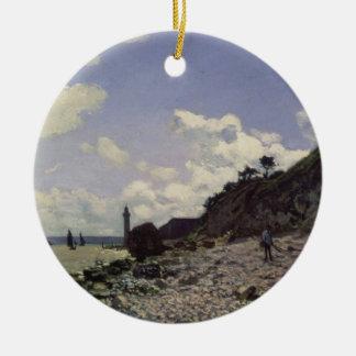 Claude Monet | Beach at Honfleur, 1864 Ceramic Ornament