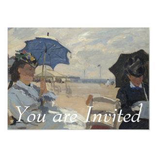 Claude Monet Beach Scene Card
