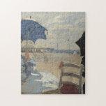 Claude Monet Beach Scene Jigsaw Puzzles