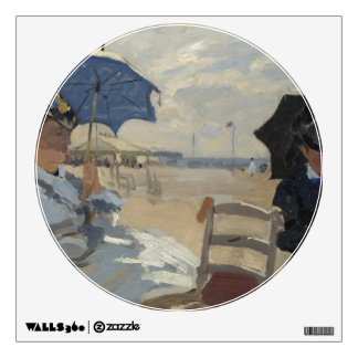 Claude Monet Beach Scene Wall Sticker
