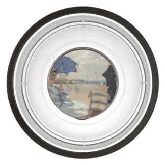 Claude Monet Beach Scene Pet Bowl