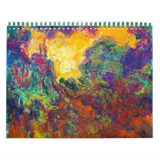 Claude Monet best fine art painting calendar 2013