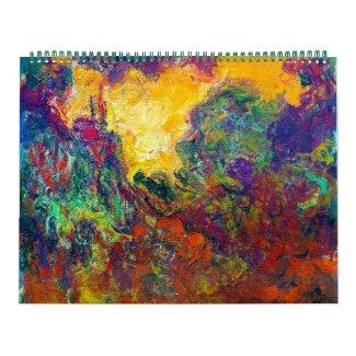 Claude Monet best fine art painting calendar 2014