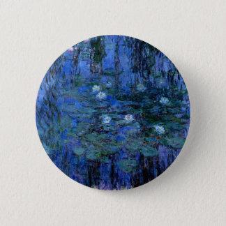 Claude Monet Blue Water Lilies Button