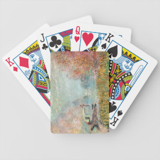 Claude Monet    Boat Studio on the Seine Bicycle Playing Cards