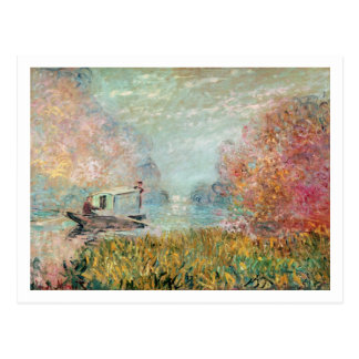 Claude Monet |  Boat Studio on the Seine Postcard