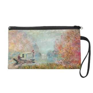 Claude Monet |  Boat Studio on the Seine Wristlet