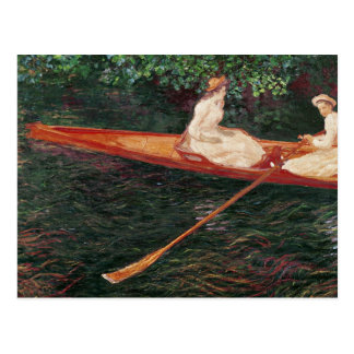 Claude Monet   Boating on the river Epte Postcard