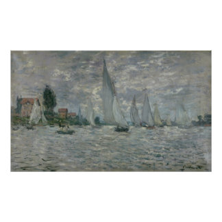 Claude Monet | Boats, or Regatta at Argenteuil Poster