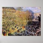 Claude Monet - Boulevard des Capucines in Paris Poster