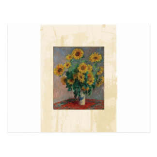 Claude Monet: Bouquet of Sunflower Vintage Art Postcard