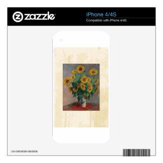 Claude Monet: Bouquet of Sunflower Vintage Art iPhone 4 Skins