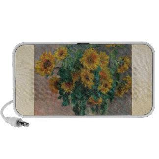 Claude Monet: Bouquet of Sunflower Vintage Art Mp3 Speaker
