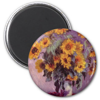 Claude Monet Bouquet of Sunflowers Refrigerator Magnet