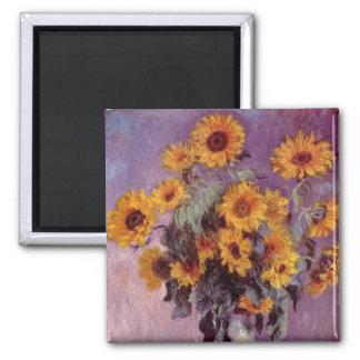 Claude Monet - Bouquet of Sunflowers Magnets
