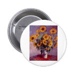 Claude Monet Bouquet of Sunflowers Pinback Buttons