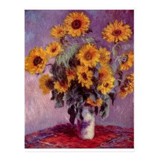 Claude Monet Bouquet of Sunflowers Post Card