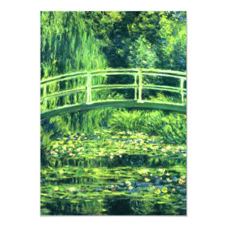 Claude Monet: Bridge Over a Pond of Water Lilies 5x7 Paper Invitation Card