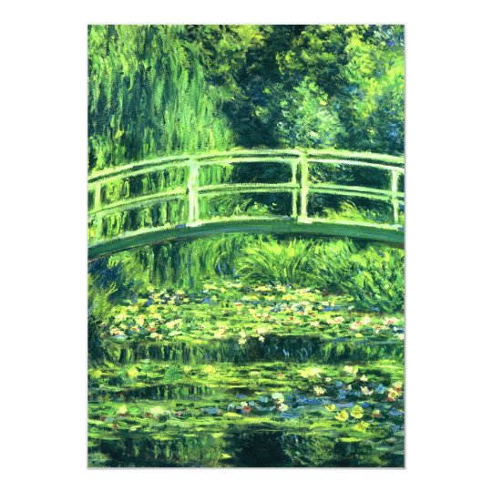 Claude Monet: Bridge Over a Pond of Water Lilies Card