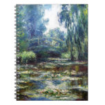 Claude Monet Bridge Over Water Lily Pond Note Books