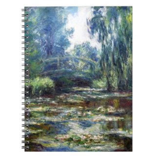 Claude Monet Bridge Over Water Lily Pond Notebook
