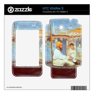 Claude Monet by Edouard Manet Decal For HTC Wildfire S