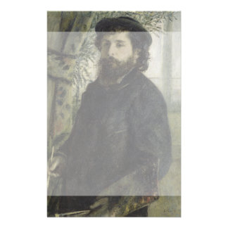 Claude Monet by Pierre-Auguste Renoir Flyer