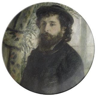 Claude Monet by Pierre-Auguste Renoir Porcelain Plates