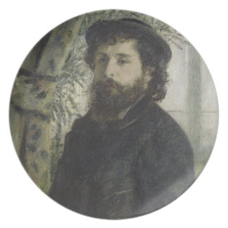 Claude Monet by Pierre-Auguste Renoir Dinner Plates