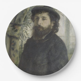 Claude Monet by Pierre-Auguste Renoir 9 Inch Paper Plate