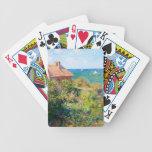 Claude Monet: Cabaña de Fishermans en Varengeville Baraja Cartas De Poker