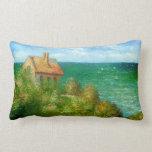 Claude Monet: Cabaña de Fishermans en Varengeville Almohada